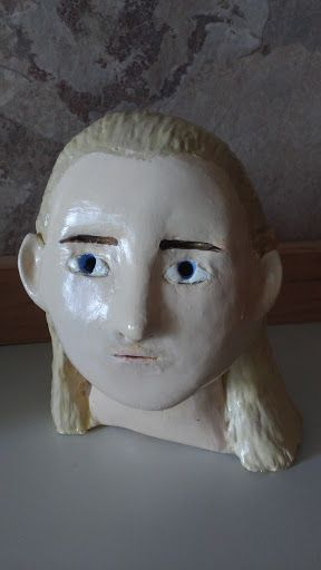 clay legolas from the lord of the rings bust sculpture he took me