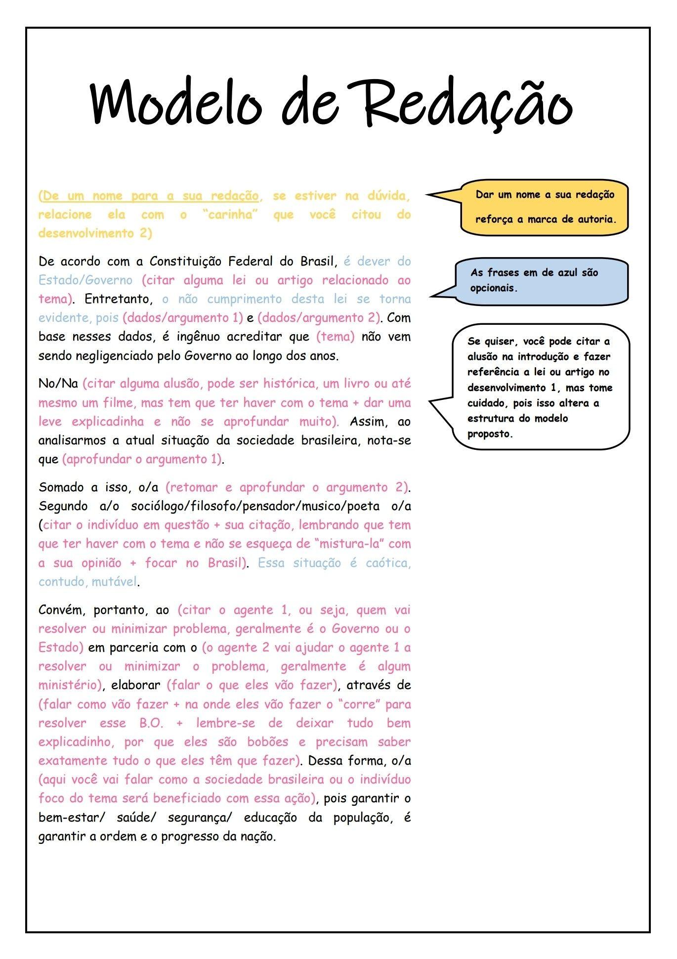 Redação Enem Cronograma De Estudos Enem Planos De