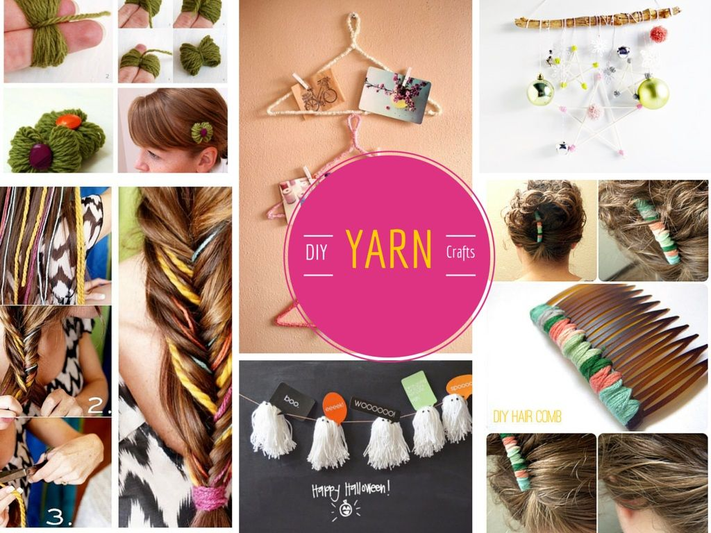 12 Super Cool and Lovable DIY Yarn Crafts Projects: Part 1 #diy #crafts #yarn #handmade #homemade #decor