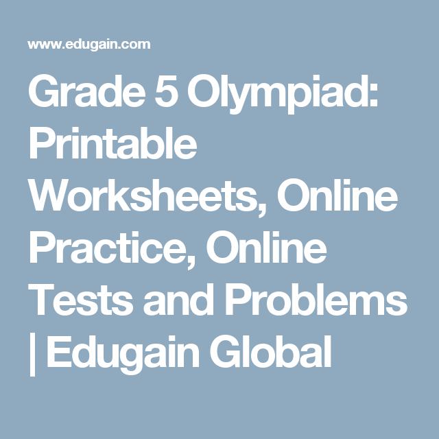 Grade 5 Olympiad: Printable Worksheets, Online Practice, Online ...