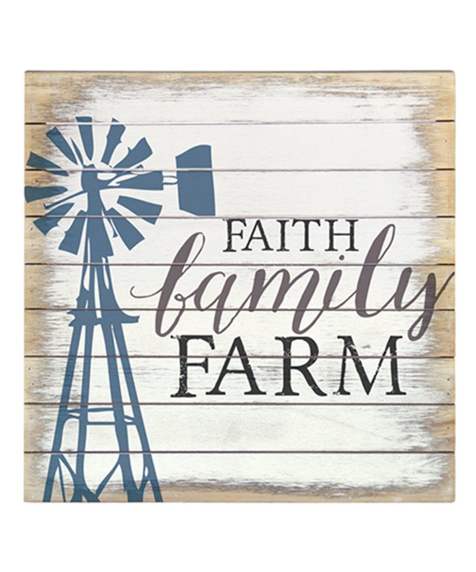 Whitewashed ufaith family farmu wood wall art by sincere