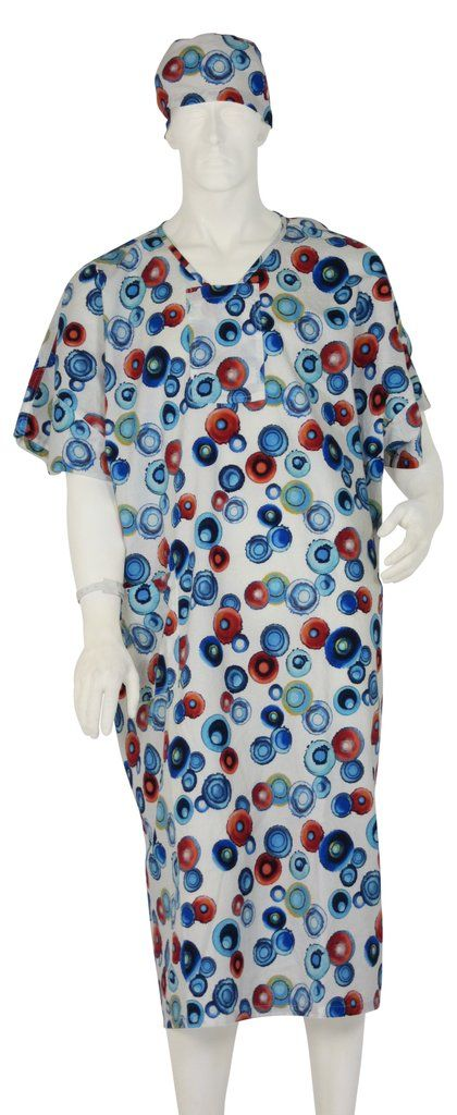 Hospital Gowns Energy Circles - Small / White | Designer Hospital ...