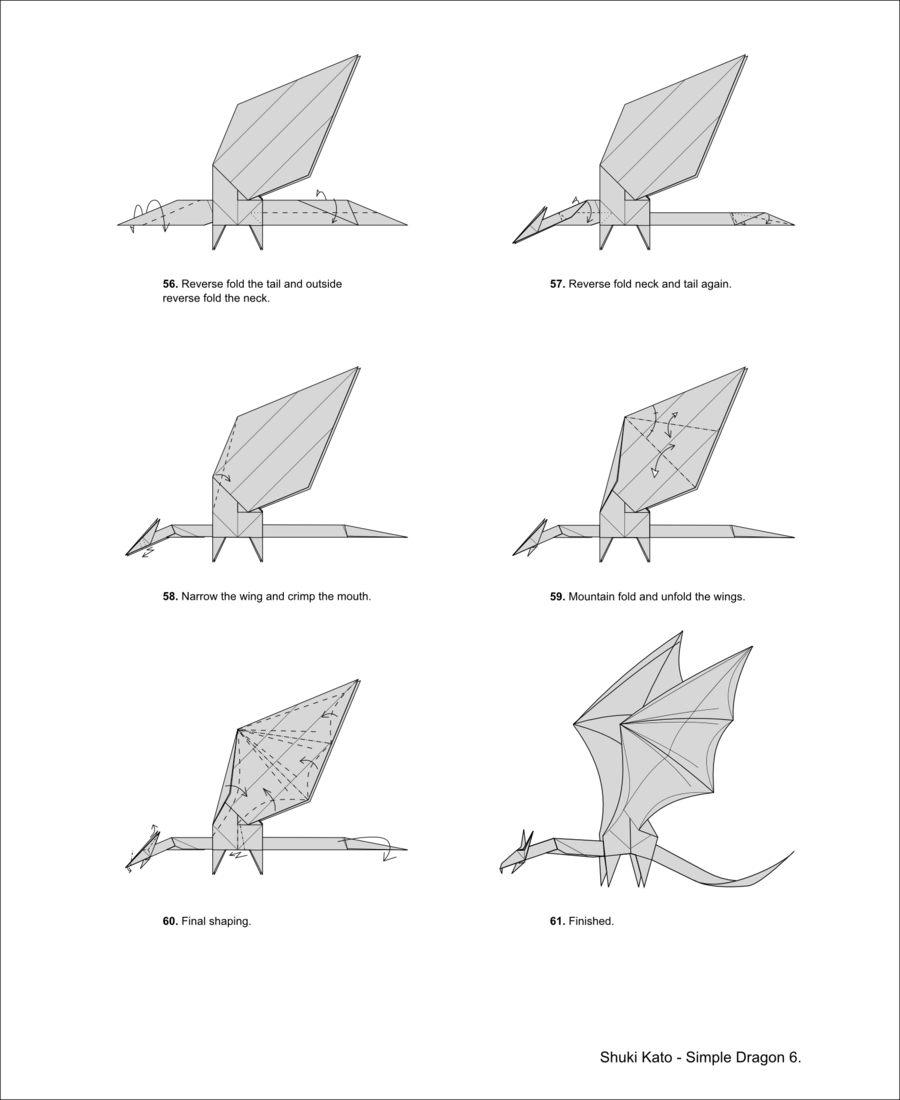 let�s follow origami dragon diagram washi pinterest