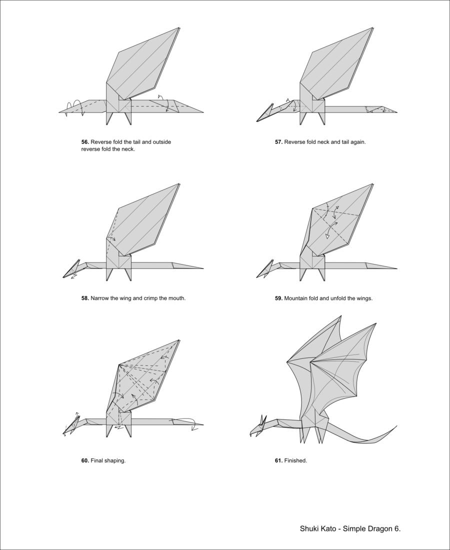 Let's follow Origami Dragon Diagram