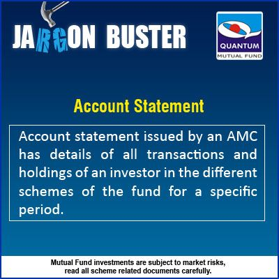 Jargonbuster Account Statement Account Statement Issued By An