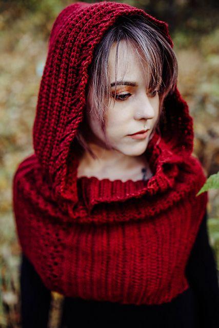 The Celia Hooded Cowl pattern by Kayla Norris | Pinterest ...