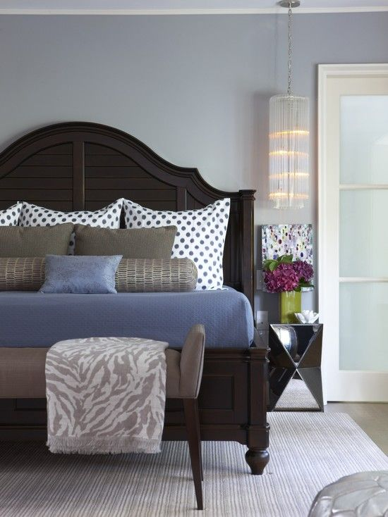Bedroom Slate Blue Paint Brown Furniture Design Pictures Remodel Decor And Ideas Page Dark Wood Bedroom Furniture Modern Bedroom Wood Bedroom Furniture