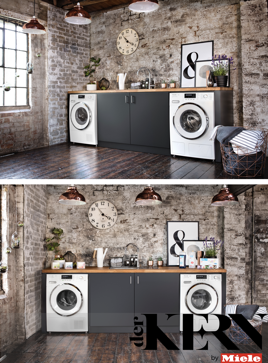 Easily Create An Industrial Look In Your Utility Room By Adding A