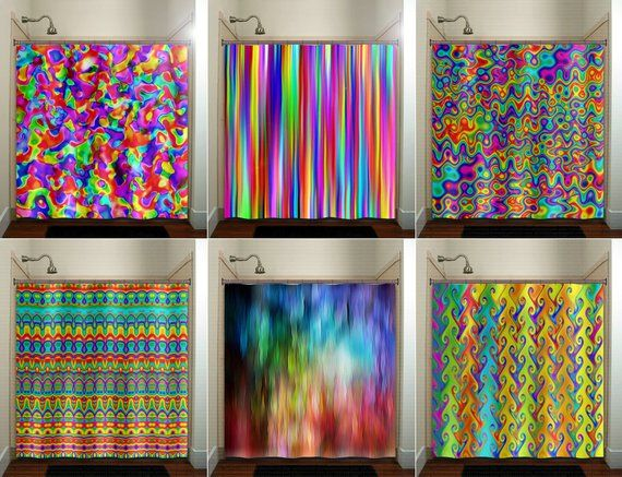c8f85e19c11a colorful rainbow shower curtain