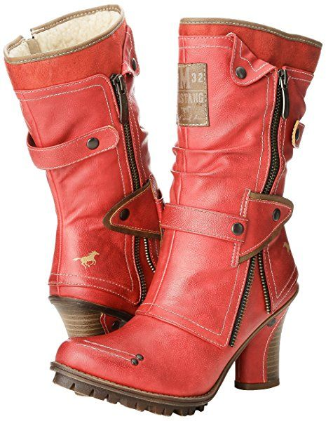 MUSTANG Stiefel rot XB 2371Q3 : Stiefeletten,Boots