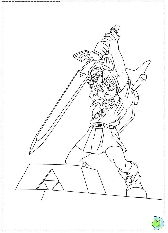 the legend of zelda coloring page - Zelda Coloring Pages
