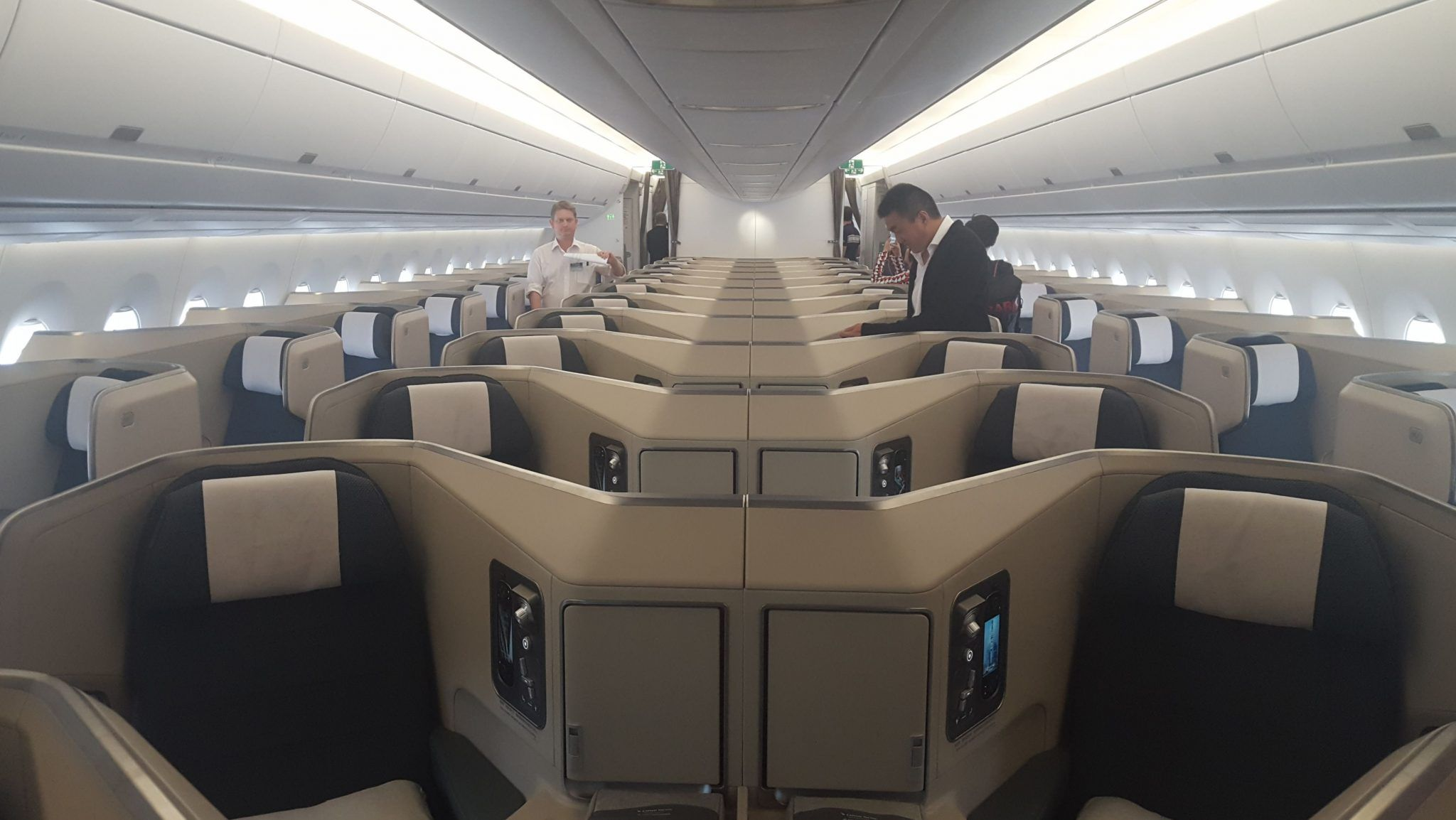 Cathay Pacific Business Class Airbus A350 1000 Cathay Pacific Aircraft Interiors Airbus