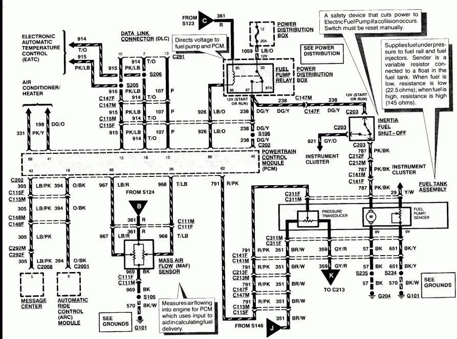1999 Ford Taurus Fuel Pump Wiring Diagram