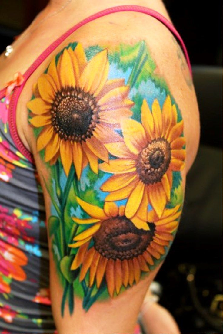 sunflower tattoo images - 736×1104