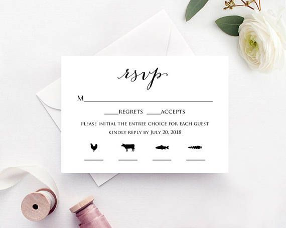 Rsvp Card Template Instantly Download Edit And Print Your Own Wedding Invitation Rsvp Cards This Wedding Invitations Rsvp Cards Rsvp Wedding Cards Rsvp Card