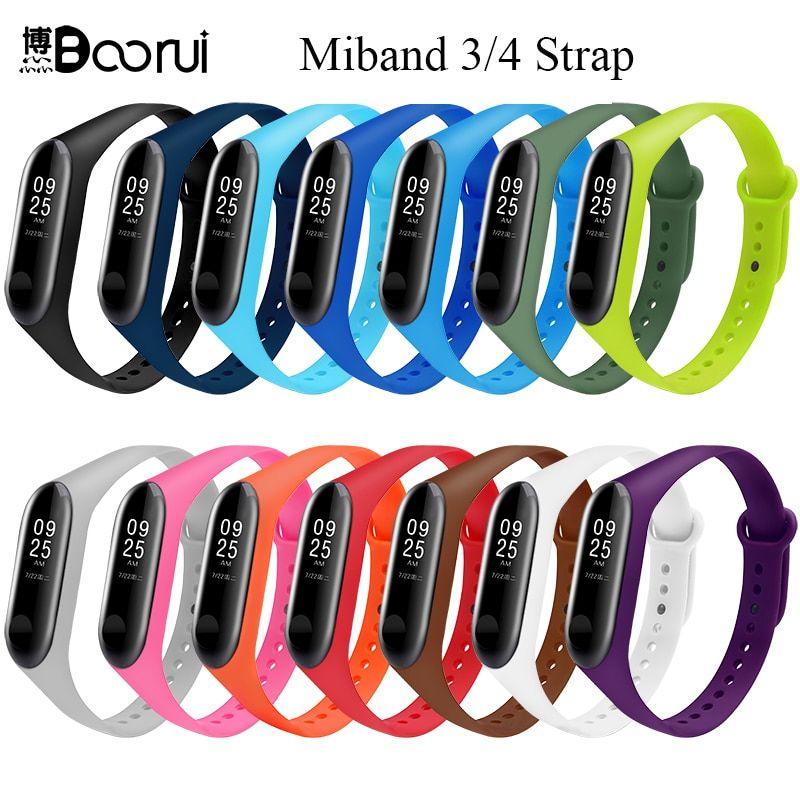 Boorui Mi Band 3 4 Strap Wrist Strap For Xiaomi Mi Band 3 4 Silicone Miband 3 4 Accessories Pulsera Correa Mi 3 Replaceme Wrist Strap Replacement Straps Strap