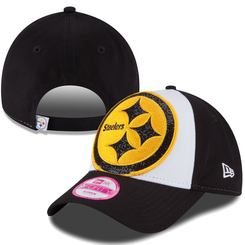 fc30981e8704a9 Pittsburgh Steelers New Era Women's Glitter Glam 9FORTY Adjustable Hat -  White