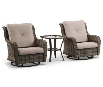 Pinehurst Aqua Replacement Cushion Swivel Glider Chair Set 4