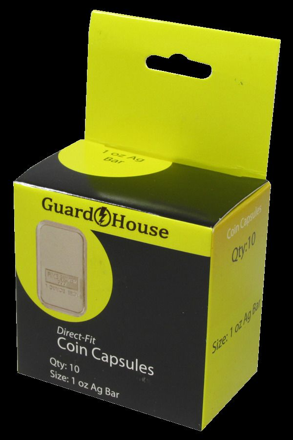 20 Boxes Guardhouse 1 Oz Silver Bar Direct Fit Capsules 10 Per Box 7881630 Guardhouse Silver Bars Capsule Directions