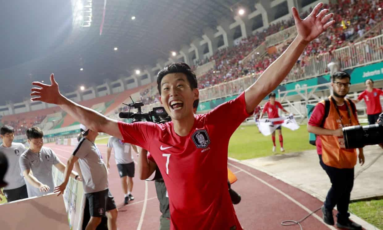 Son Heung Min Spared Military Service As South Korea Take Asian Games Gold Asian Games Tottenham Military Service
