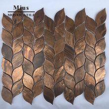 Online Shop Arabesque Lantern Beacon Copper Tile In Bronze Brushed For Bathroom Kitchen Backsplash Wall Tile Metal Mosaic Tiles Copper Tiles Copper Mosaic Tile