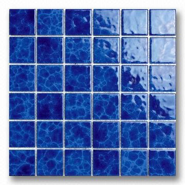 48mm Blue Porcelain Mosaic Tile for Swimming Pool Use | Global ...