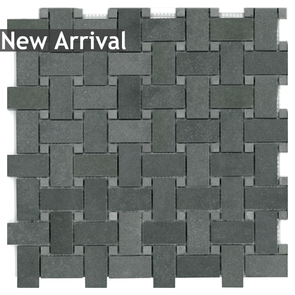 discount glass tile store basalt basketweave with dots mosaic mesh mount sheet granite mosaic