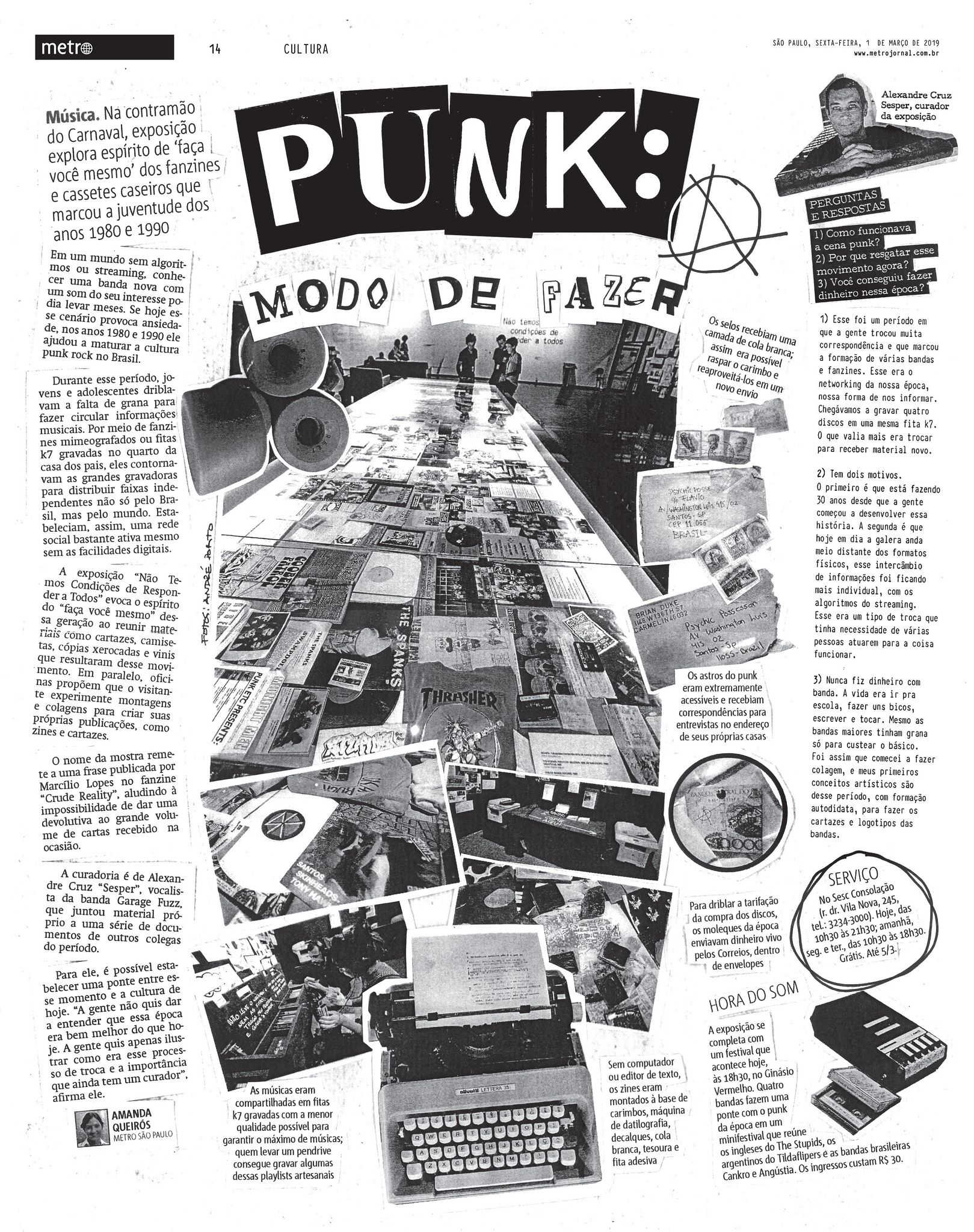 Punk Mode De Fazer Metro 2019 Editorial Design Punk Design