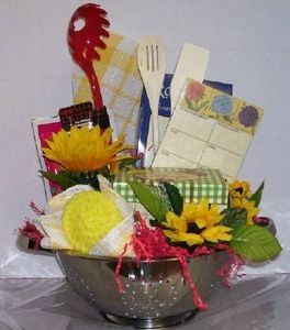 how to create a kitchen themed gift basket - Kitchen Gift Basket Ideas