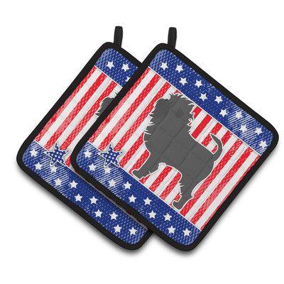 Caroline's Treasures Patriotic USA Affenpinscher Potholder