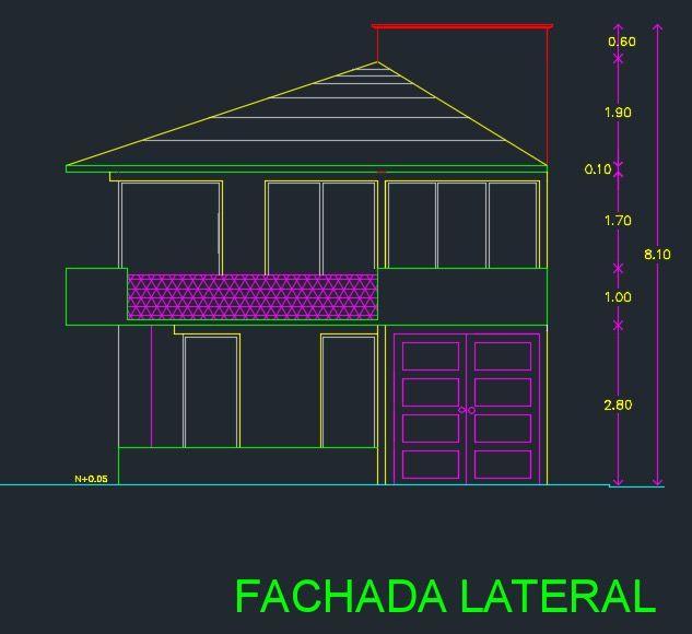 Descargar plano de casa de 2 pisos y 3 dormitorios gratis for Casa minimalista planos dwg