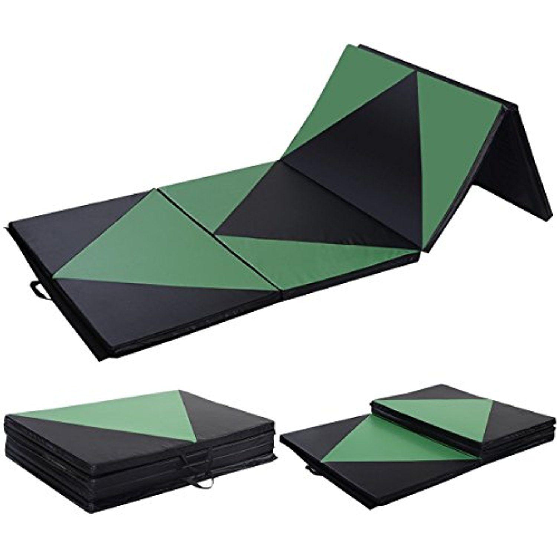 Giantex 4 X10 X2 Gymnastics Mat Thick Folding Panel For