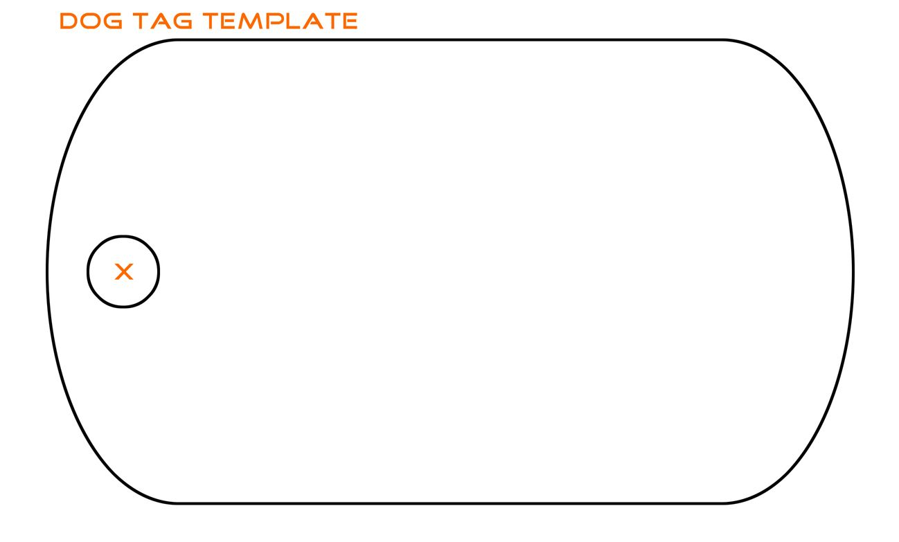 Dogtag Template Printable Tags Template Tag Templates Dog Tags Diy
