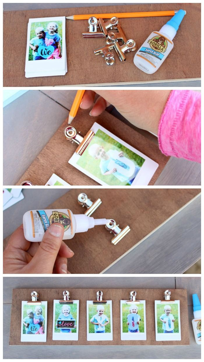 Instax clip photo frame diy 4 psbr and wth how to make a photo clip diy frame in 5 mins jeuxipadfo Image collections