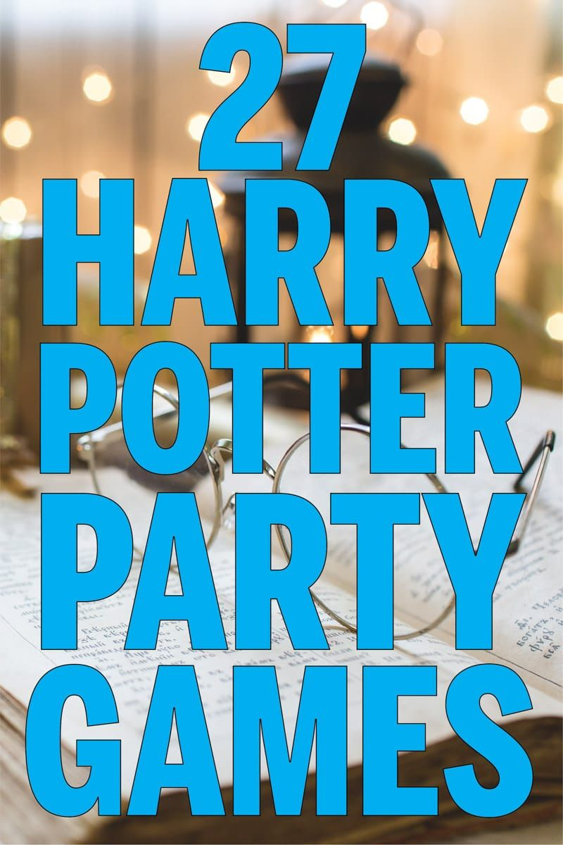 27 Magical Harry Potter Games for Muggles of All Ages #halloweenactivities