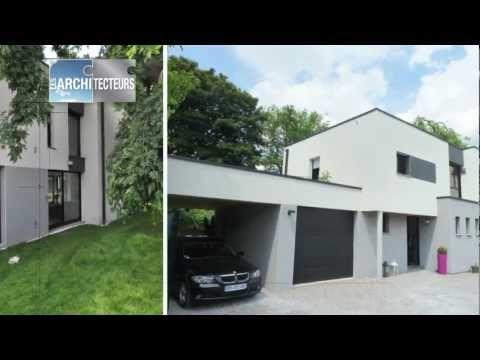 Gagnant concours 2012 : Construction d'une maison cubique très contemporaine - YouTube