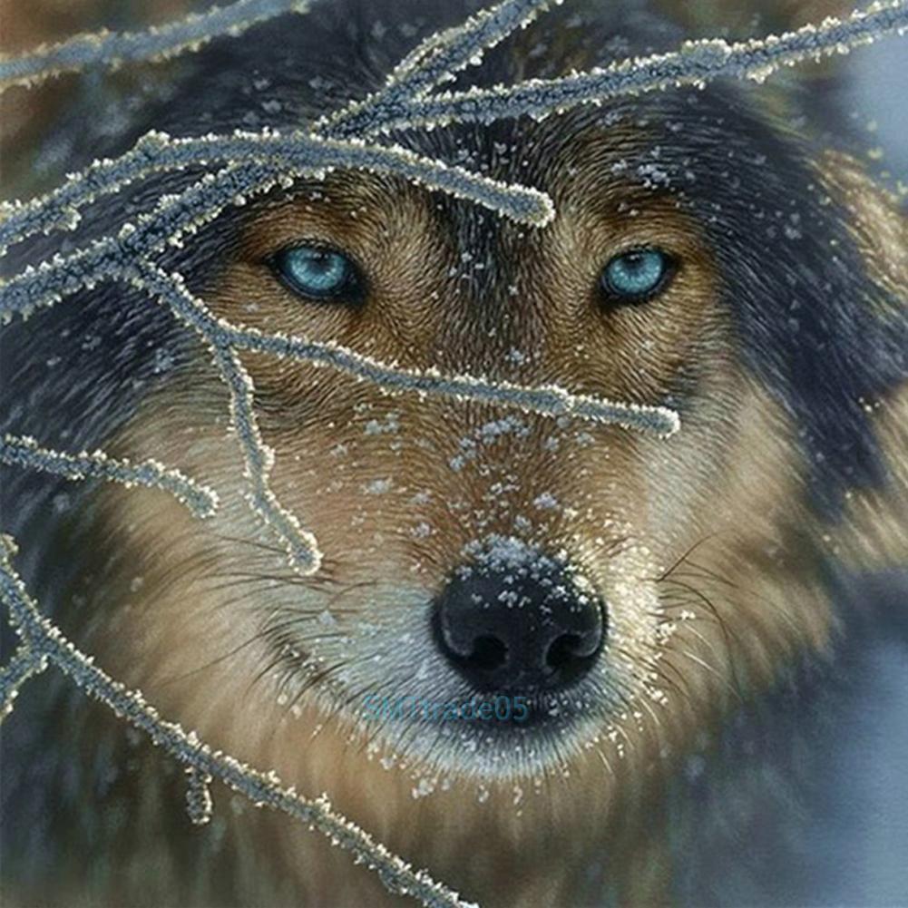 Ice Wolf 5D Diamond Diy Embroidery Painting Cross Stitch Craft Kits Home Decor