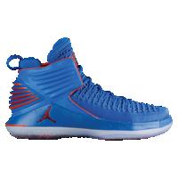 641681a2fa9 Jordan AJ XXXII Mid - Boys' Grade School - Blue / Orange | Shoes in ...