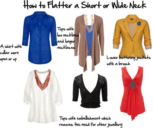 How to Flatter a Short or Wide Neck   Inside Out Style