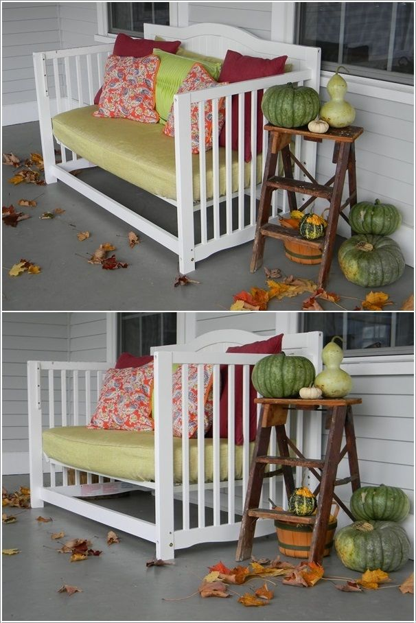 Old crib as porch seat | Toy Story Party | Pinterest | Reutilizar ...