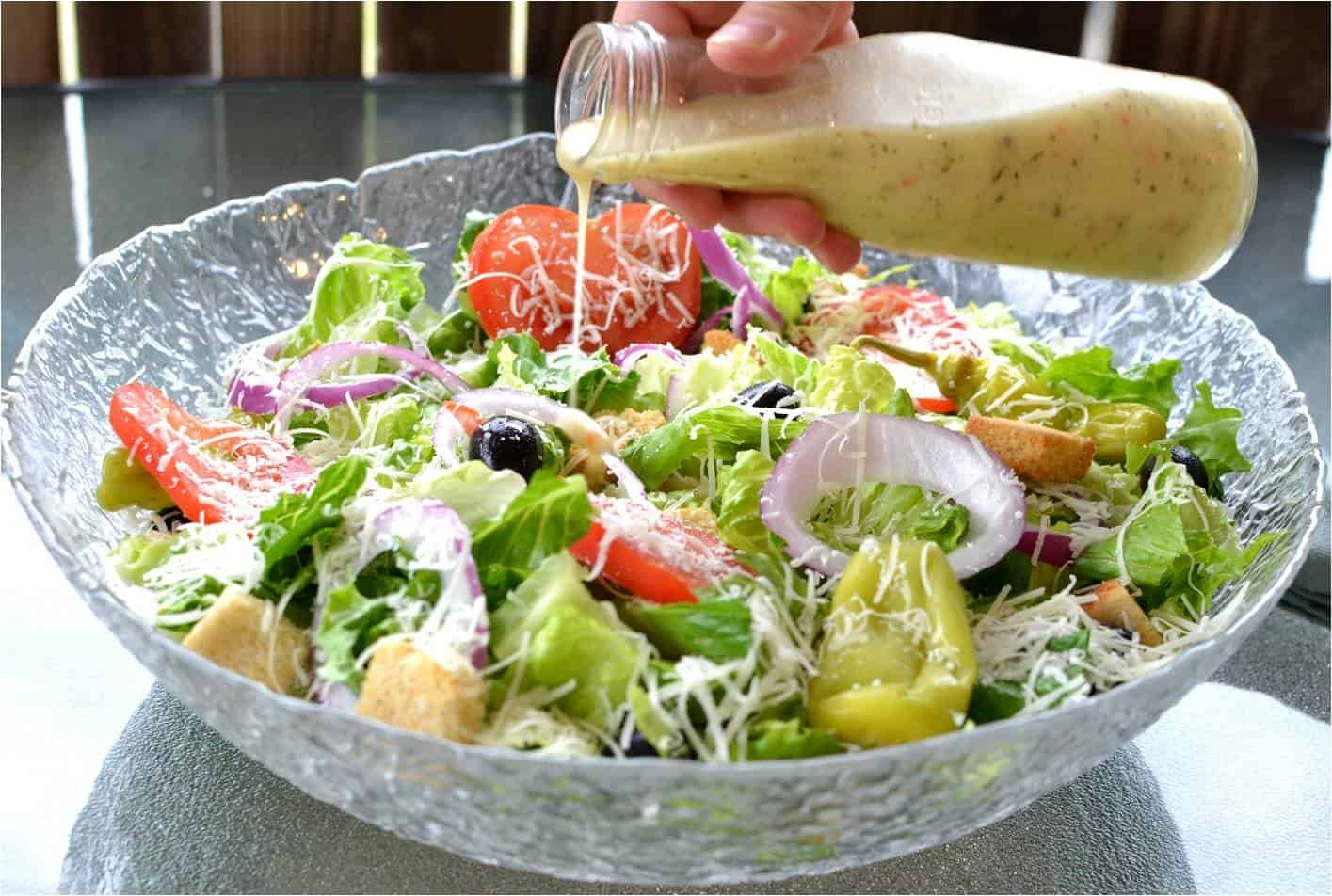 This homemade copycat Olive Garden Salad Dressing is the