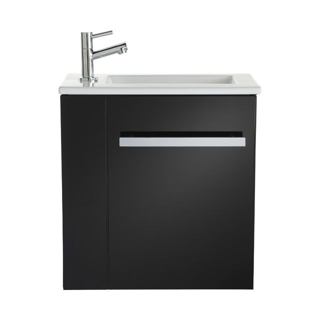 Lave-mains complet Seymour noir - CASTORAMA Wc Pinterest - Meuble De Salle De Bain Sans Vasque