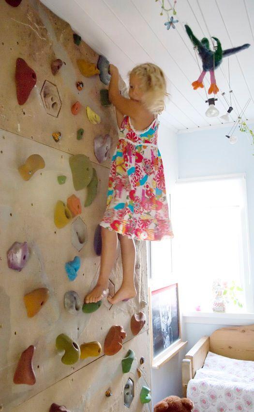 rock climbing wall kid 39 s room pinterest kletterwand. Black Bedroom Furniture Sets. Home Design Ideas