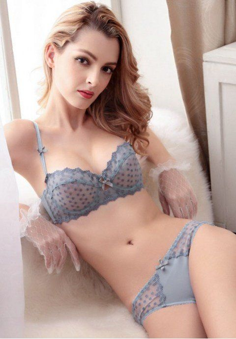 6abd94eb1f221 ... scalloped edging Support  Underwire Colors. Ultra-thin Embroidered Lace  Unlined Bra Lingerie Set. Sheer bra and panty set. Grey or White.
