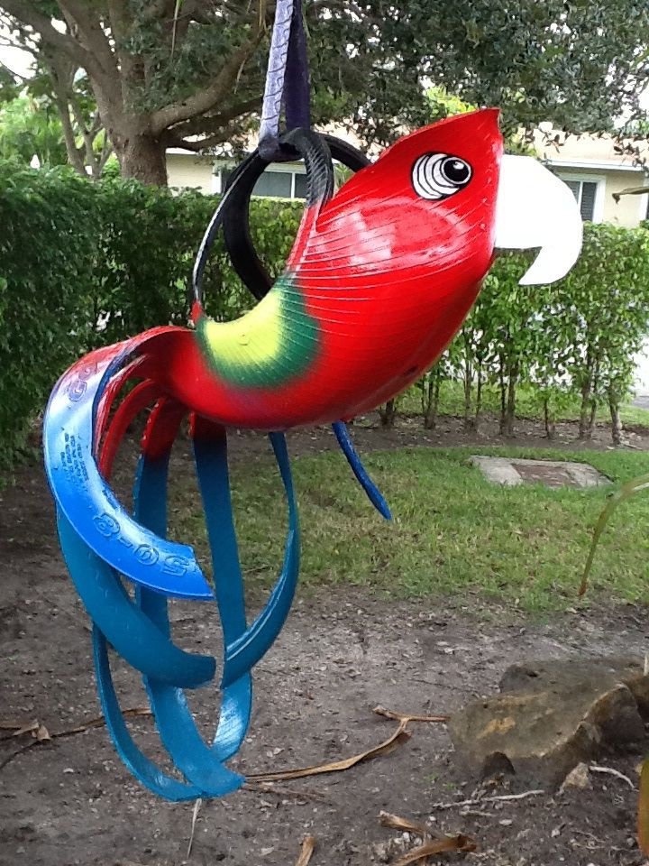 recycled tire parrot planter from. Black Bedroom Furniture Sets. Home Design Ideas