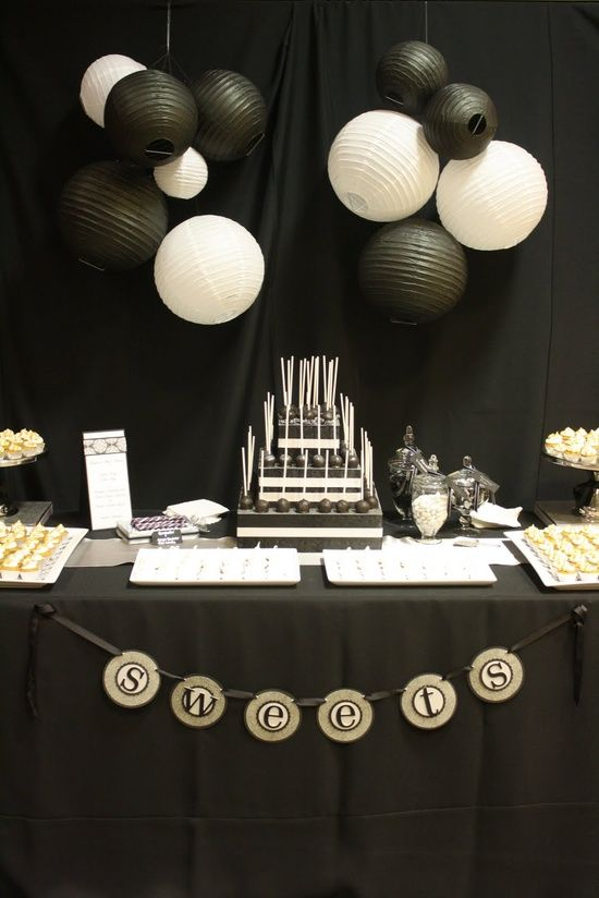 56 Elegant Black And White Wedding Dessert Tables Black White