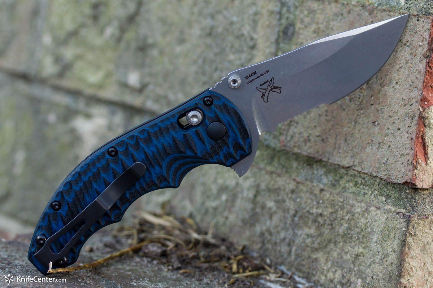 Combination Edge Satin Blade Benchmade 300S-1 Flipper