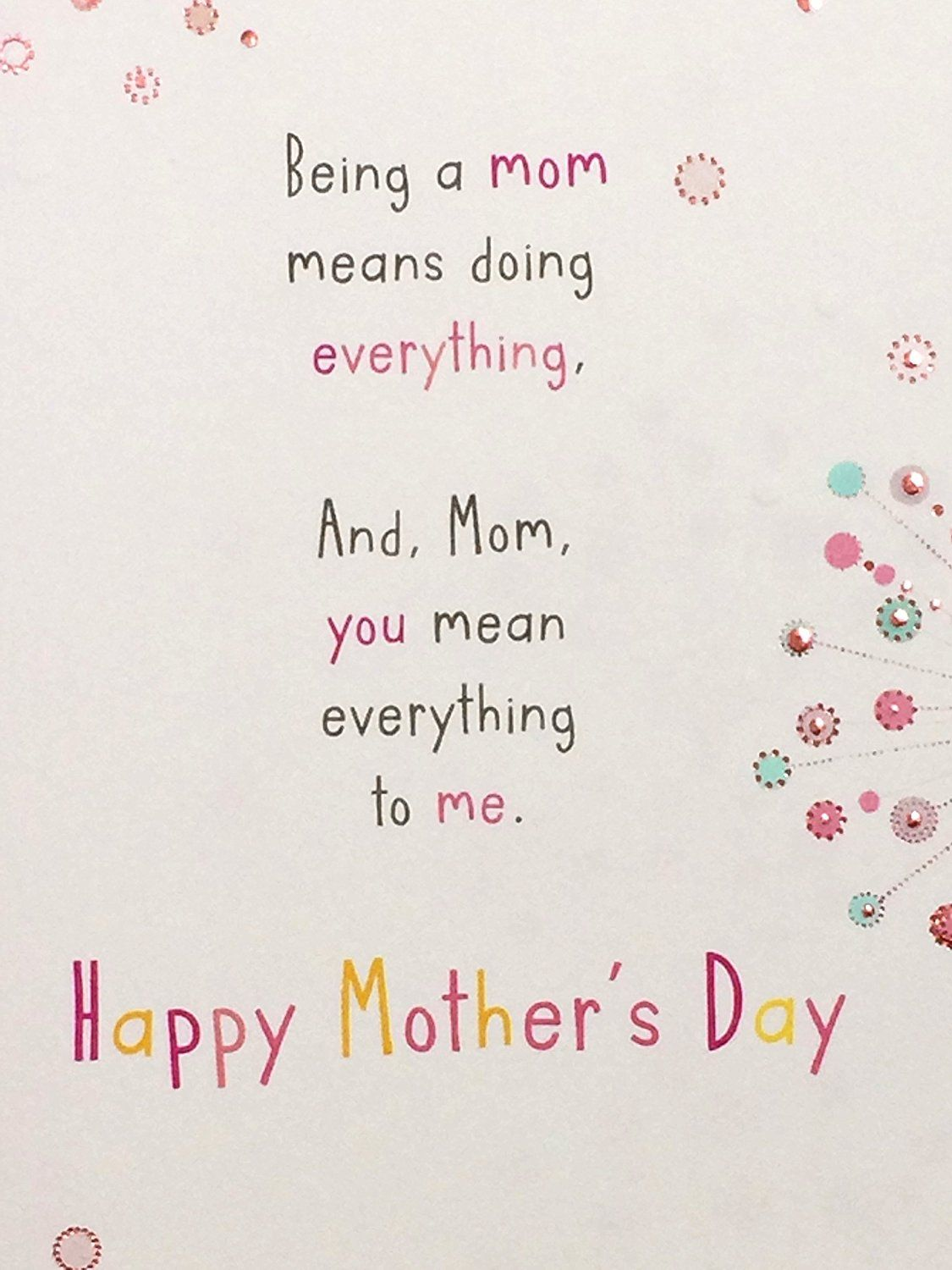 Amazon Com Mothers Day Card With Love Mom American Greetings Ea Office Products Mother Card American Greetings Mothers Day