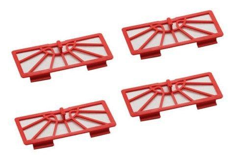 Replacement 4 x Filter for Neato xv-11 xv-12 xv-14 xv-15 xv-21 New  Red