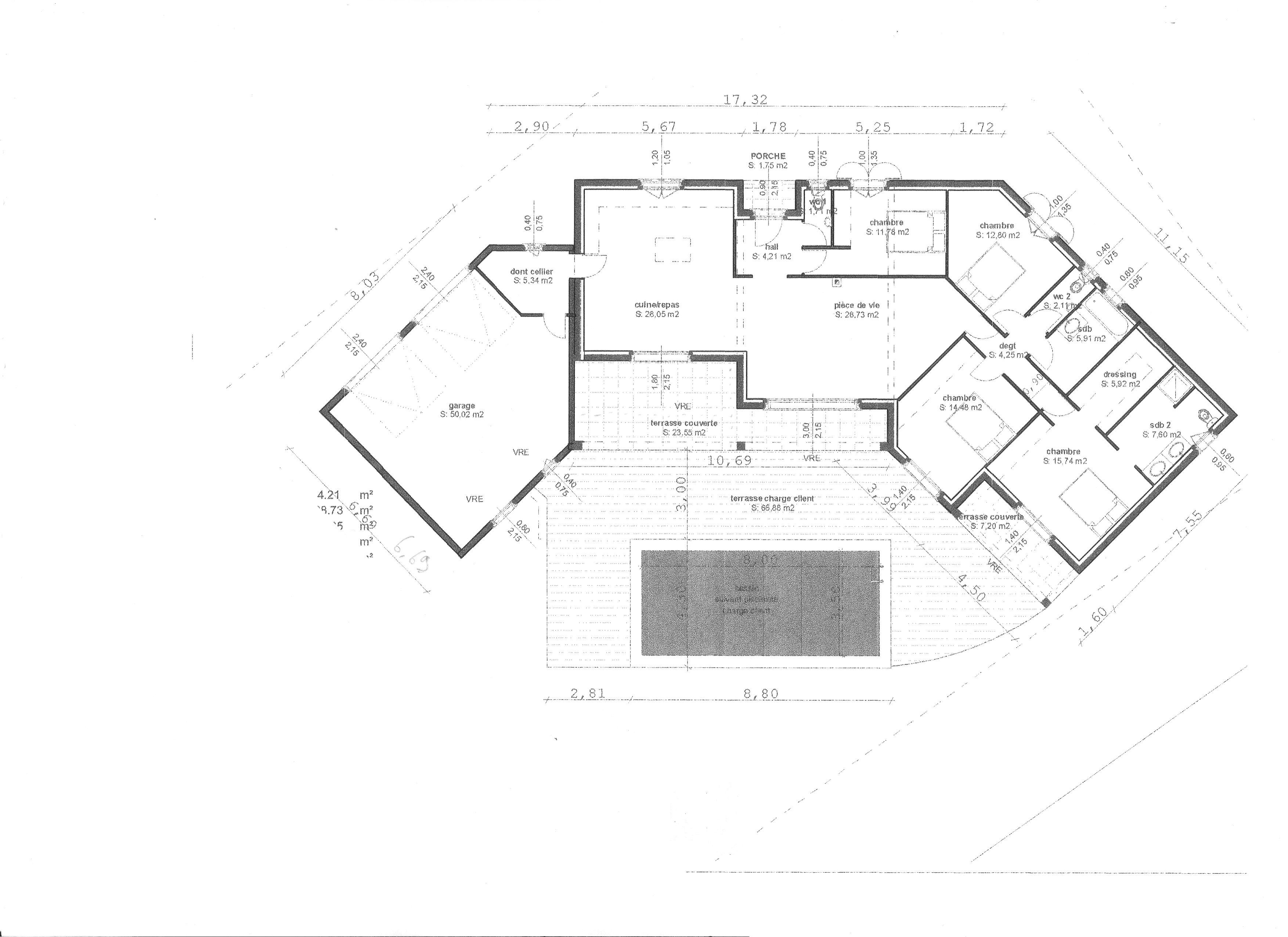 Nouveau plan maison 140m2 gratuit | Maison plain pied, Plan maison plain WP-78